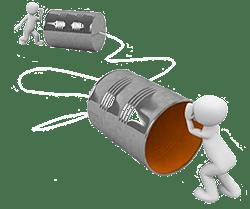 contacto y comunicación con delider social