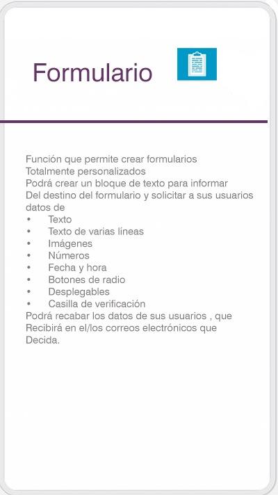 función formulario